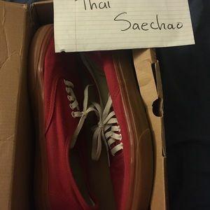 Vans Shoes - Red Gum Authentic Vans